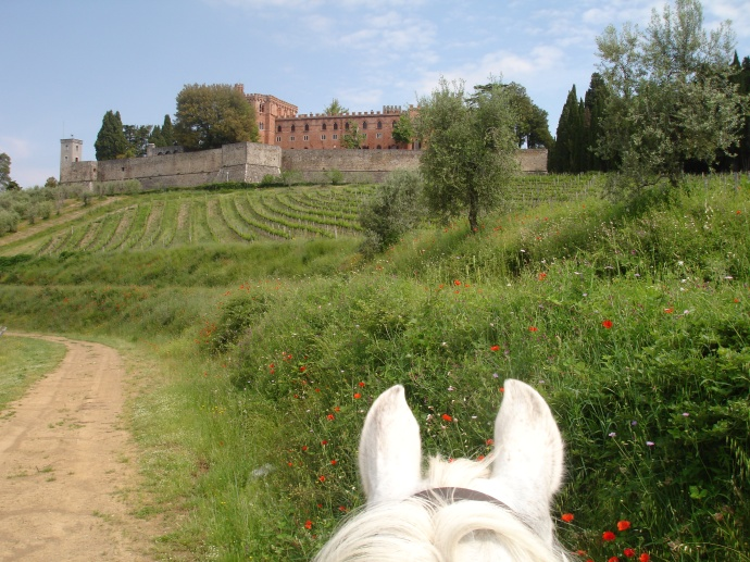 One of the many Chianti Castles you ride past