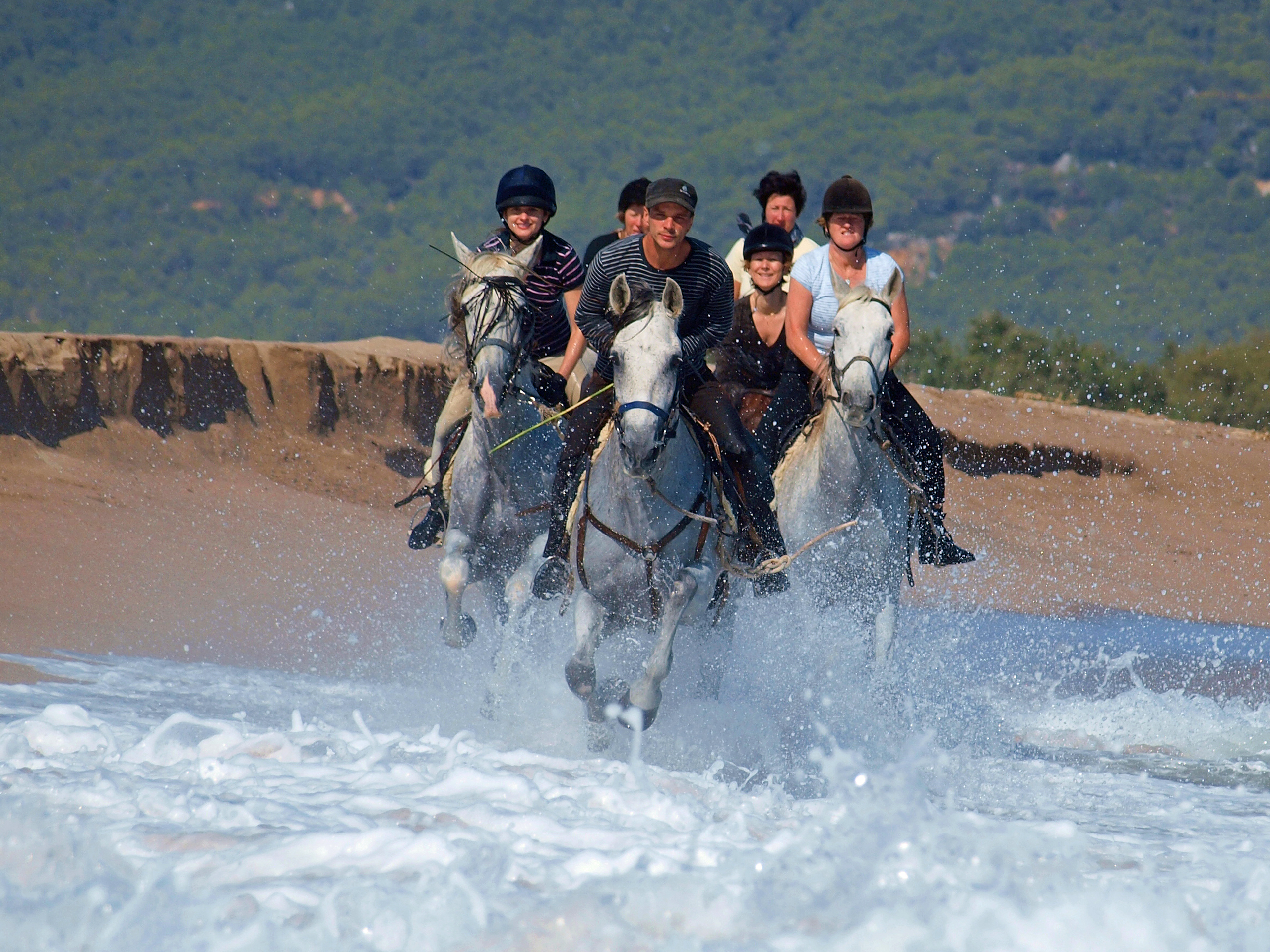 Beach riding in Spain with In The Saddle