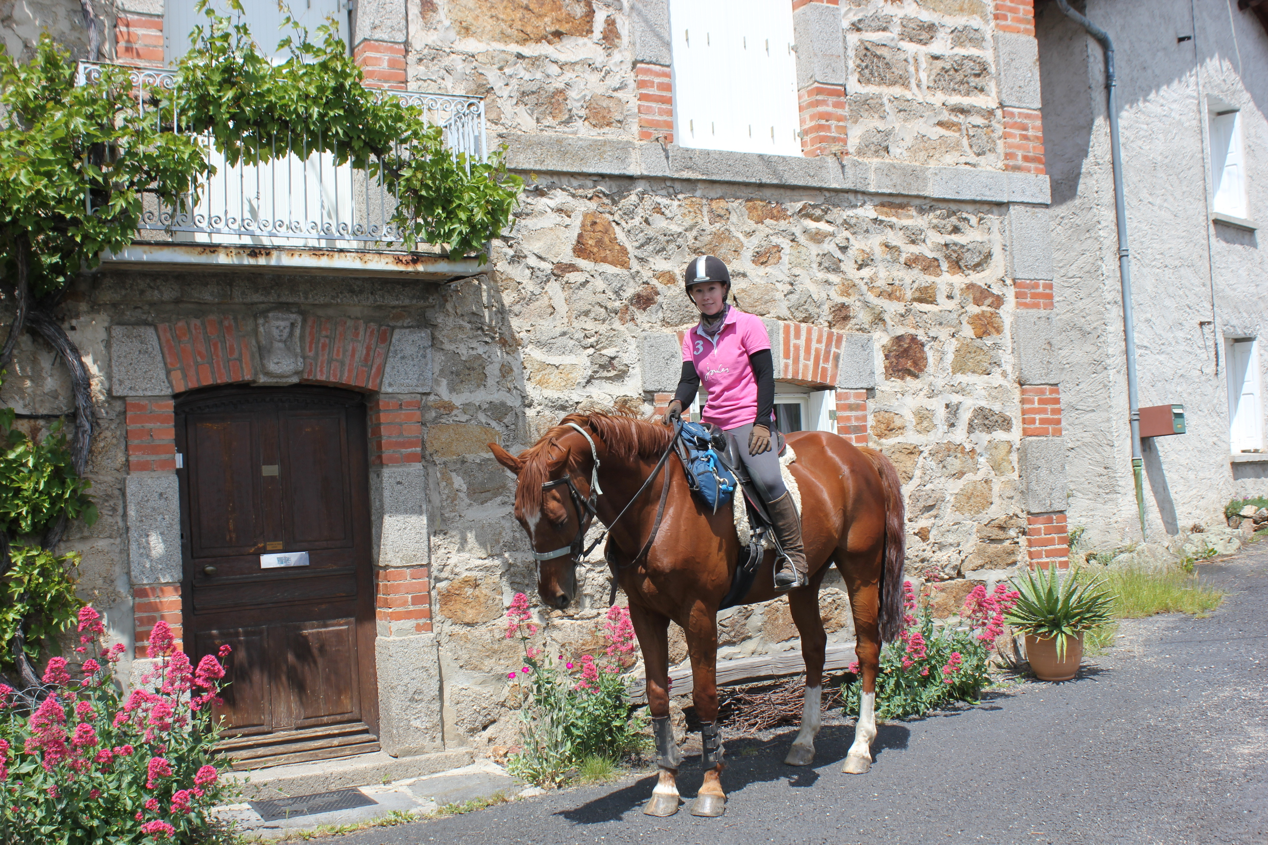 Abbie exploring little villages on horseback