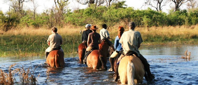 The riding is exciting at Motswiri Camp in Botswana