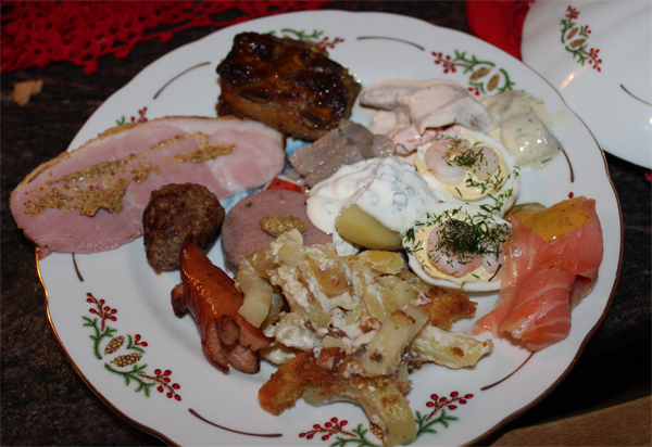 A traditional Swedish meal