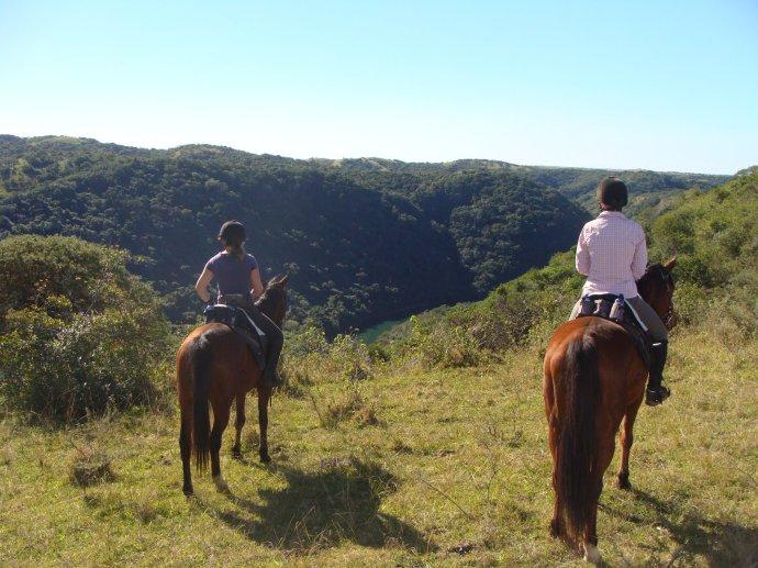 Riding inland