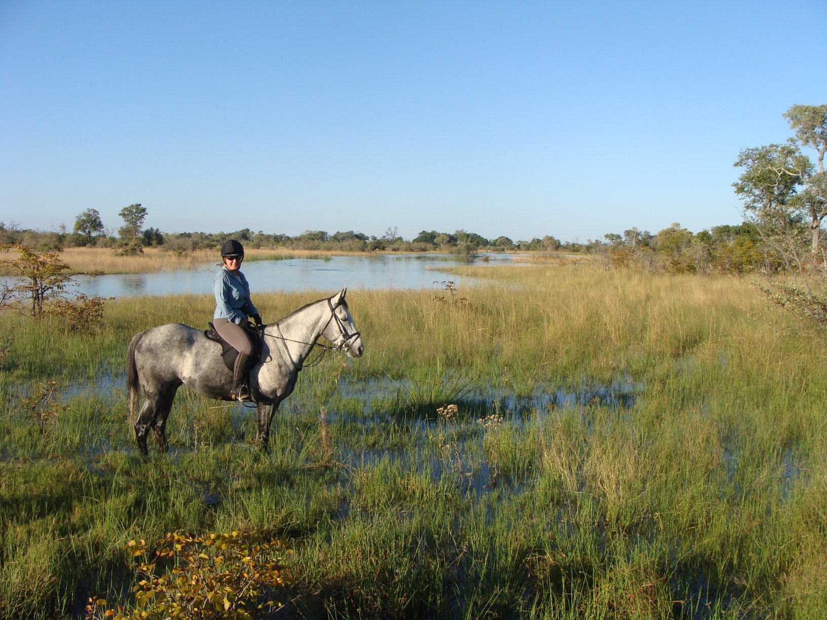 Cathy enjoying the spectacular scenery at Motswiri