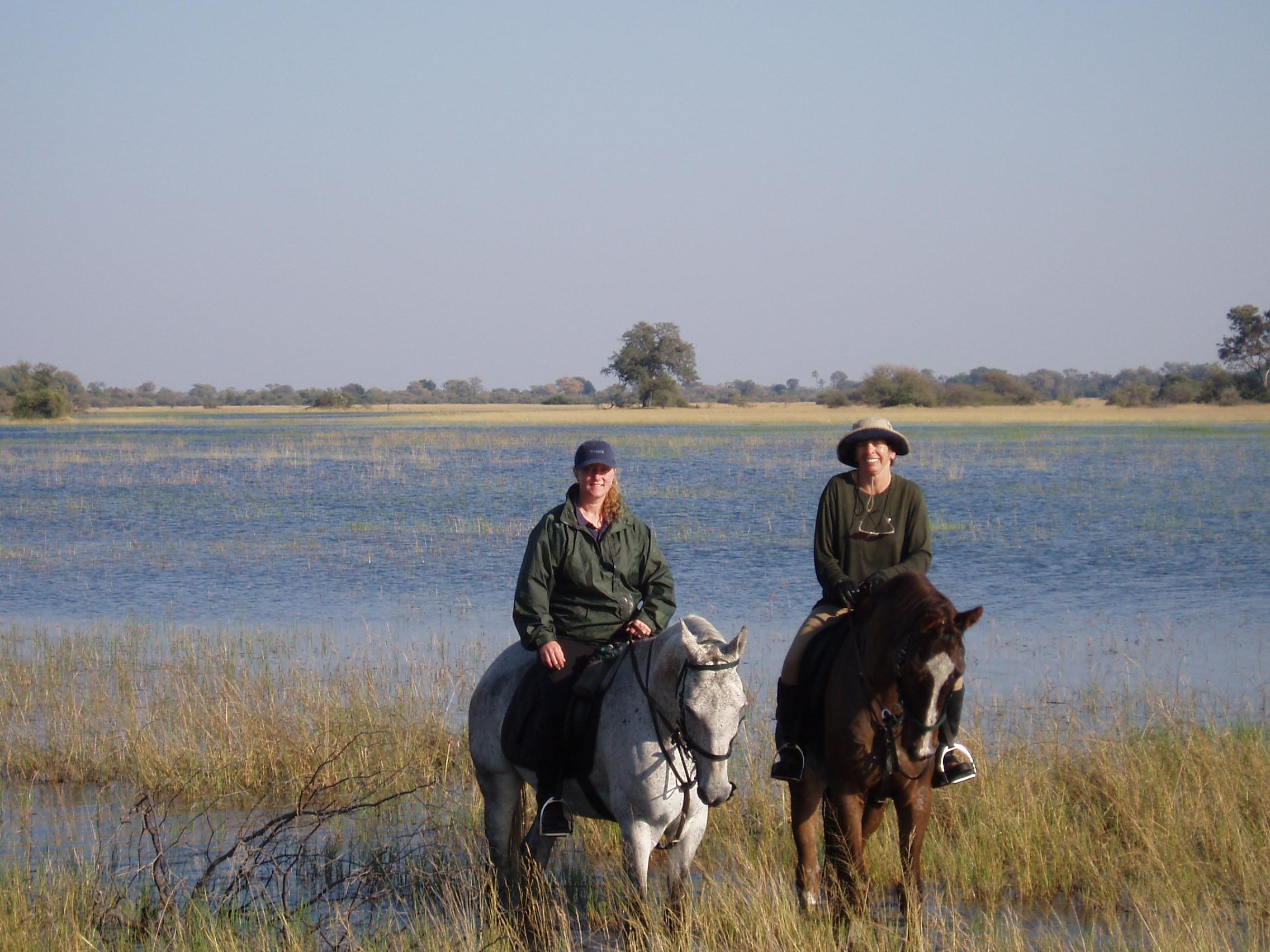 Chris enjoying an adventure at Macatoo, Botswana