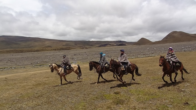 Riding in Cotopaxi National Park