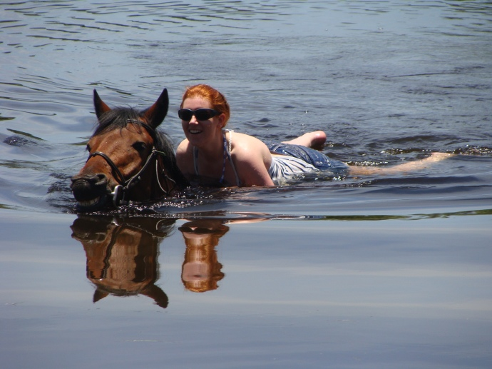 Swimming with Swamp Billy