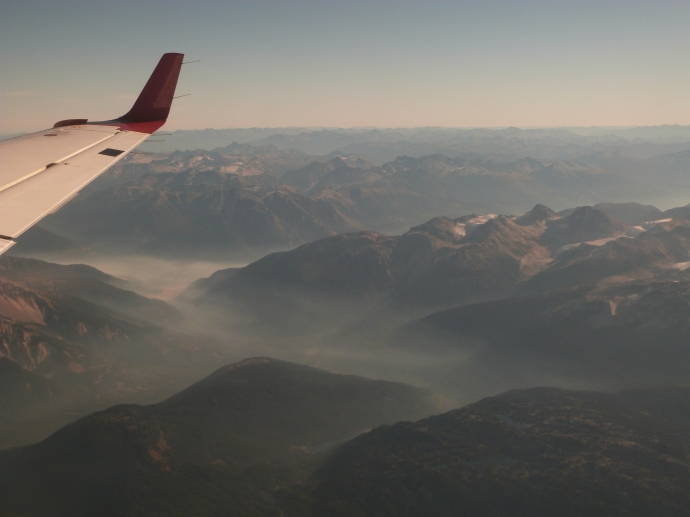 Flying in from Vancouver