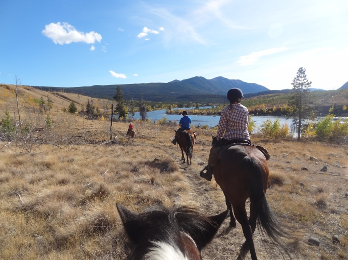 Riding along the river