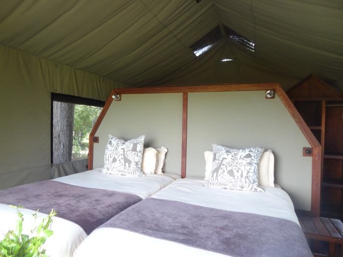 my really comfortable bed at Motswiri!