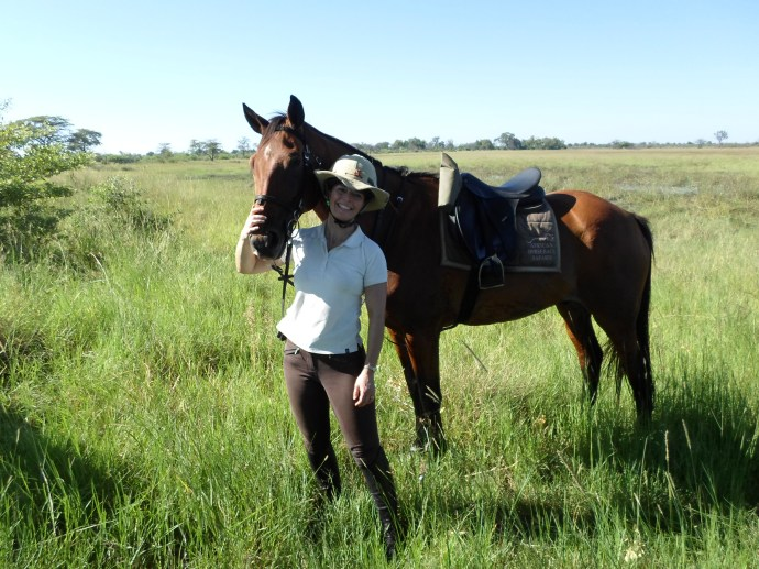 Lucy Higginson, former editor of Horse & Hound in the Okavango Delta, Botswana