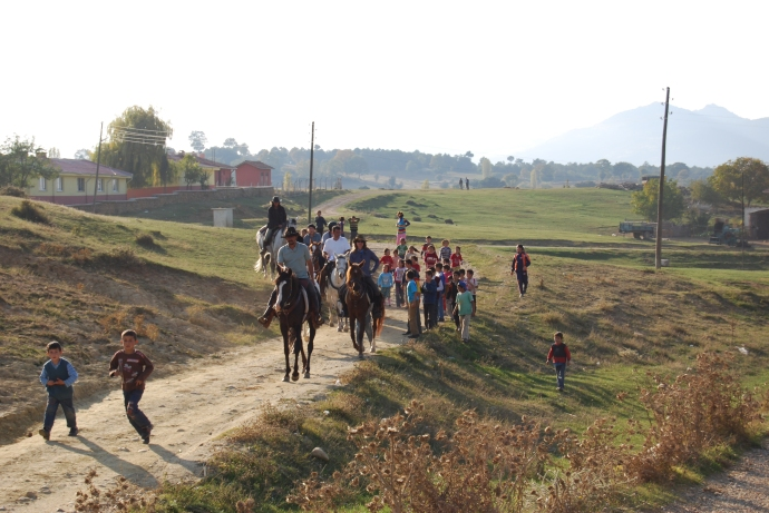 Riders along the Evliya Celebi Route in Turkey