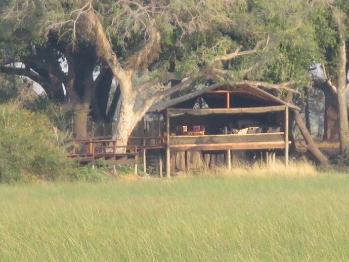 Pic: The mess tent at Moklowane