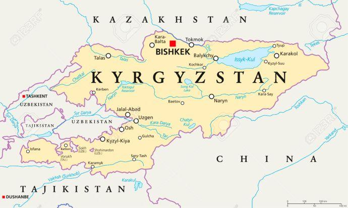Kyrgyzstan Political Map