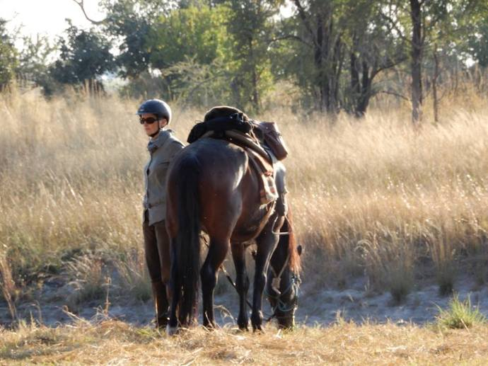 This is what life on safari should be all about, wonderful company, living close to the earth and time for those quiet moments alone, just you and your horse. Big River Safari, Caprivi,